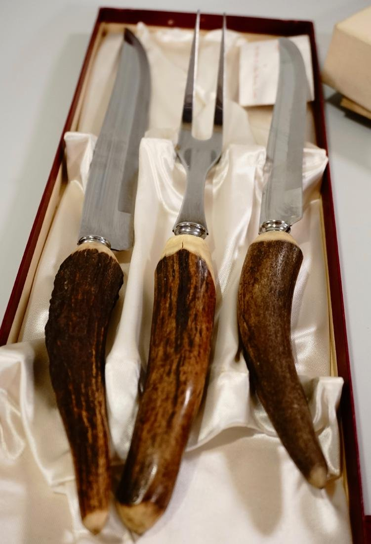Antler Handle Carving Set Voos Co. USA