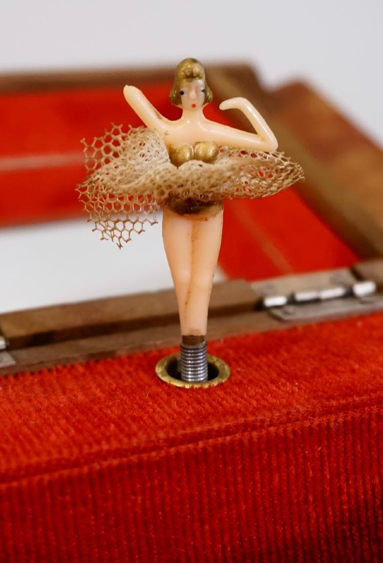 Dancing Ballerina Music Jewelry Box Swiss Chalet Plays - 5