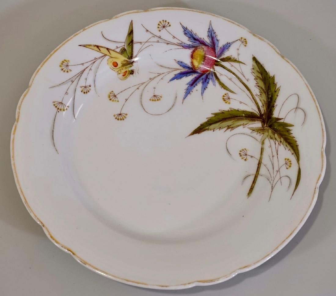 Antique Butterfly Porcelain Plate