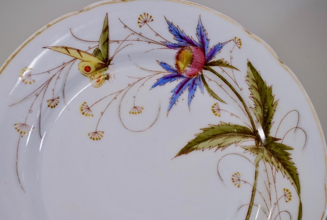 Antique Butterfly Porcelain Plate - 2