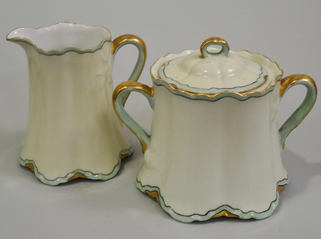 Haviland France Art Nouveau Porcelain Creamer Sugar Set