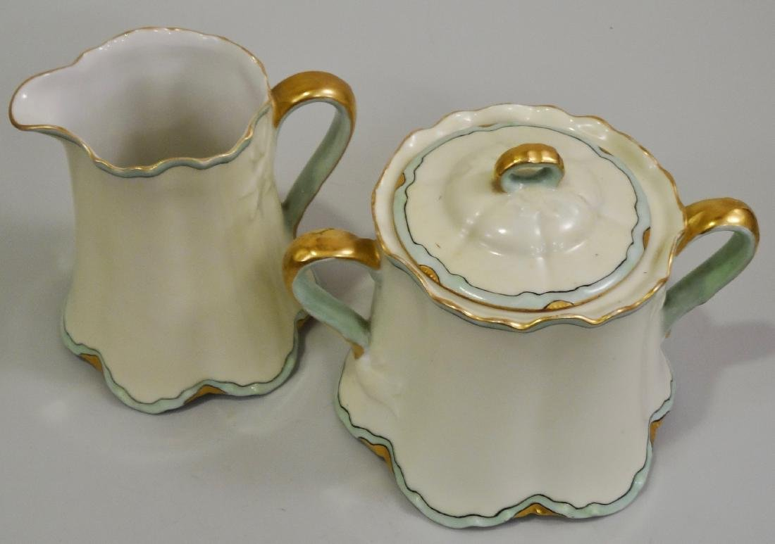 Haviland France Art Nouveau Porcelain Creamer Sugar Set - 2