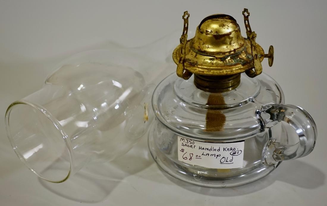 Vintage Clear Glass Chamber Kerosene Finger Lamp Hand - 4