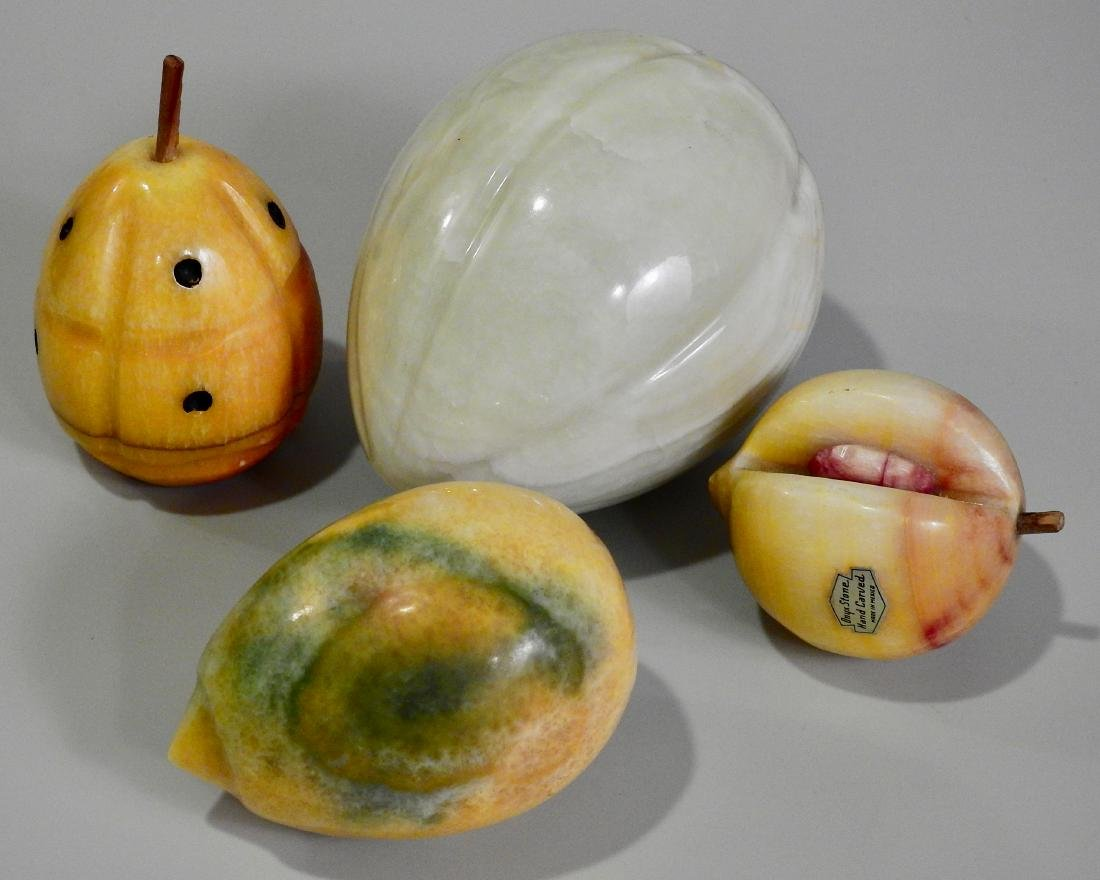 Carved Marble Mexican Onyx Fruits