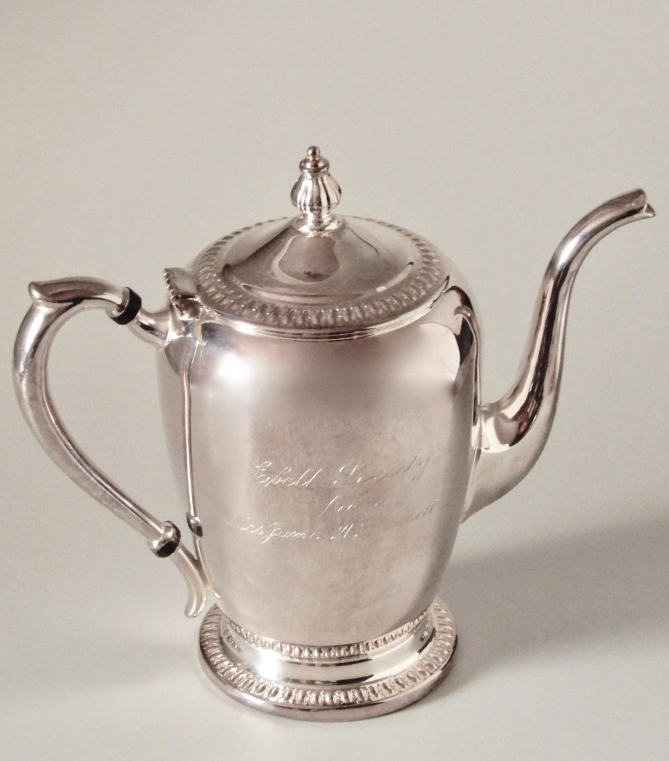 F.B. Rogers Silver Co Ebell Presentation Coffee Pot