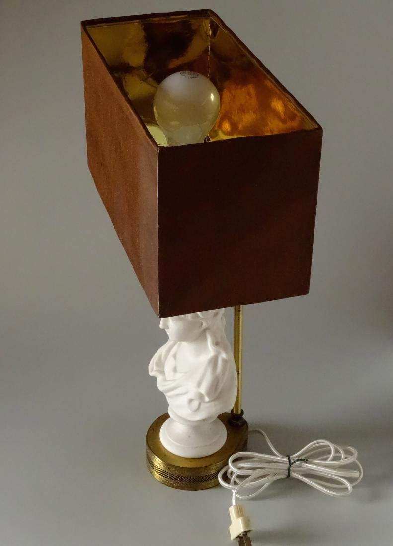 Antique Parian Roman Triumphator Bust As a Lamp - 2