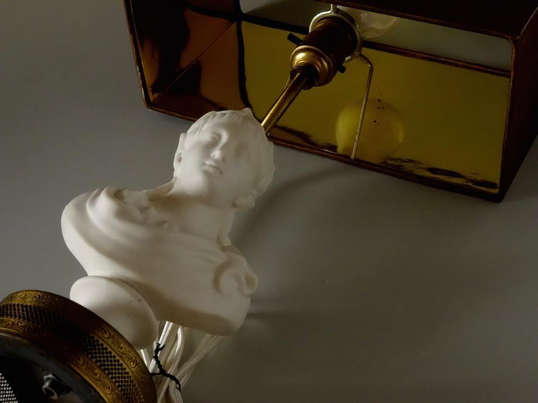 Antique Parian Roman Triumphator Bust As a Lamp - 3