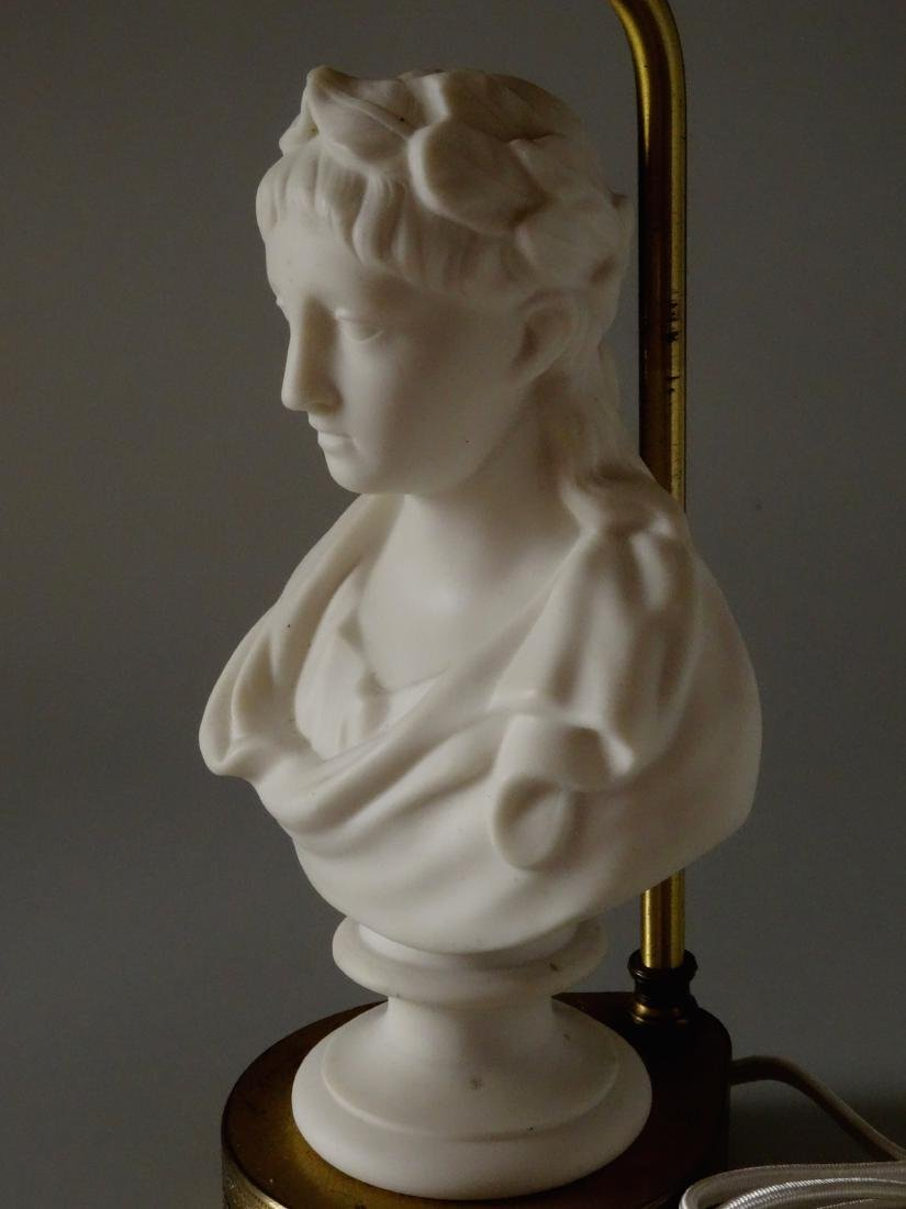 Antique Parian Roman Triumphator Bust As a Lamp - 4