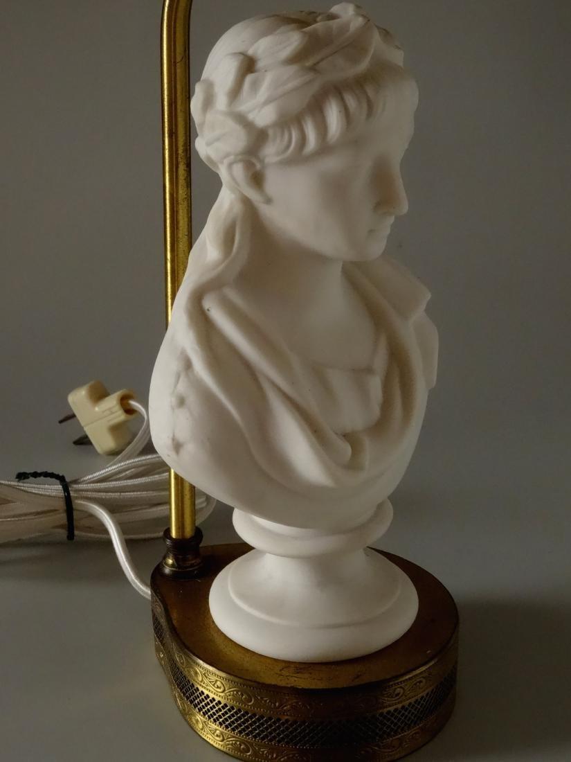Antique Parian Roman Triumphator Bust As a Lamp - 6