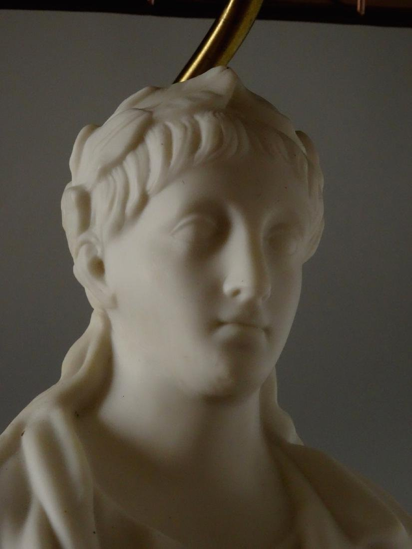 Antique Parian Roman Triumphator Bust As a Lamp - 7