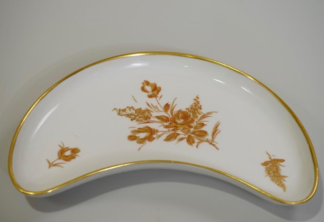Vintage French Limoges Gold Rose Porcelain Crescent
