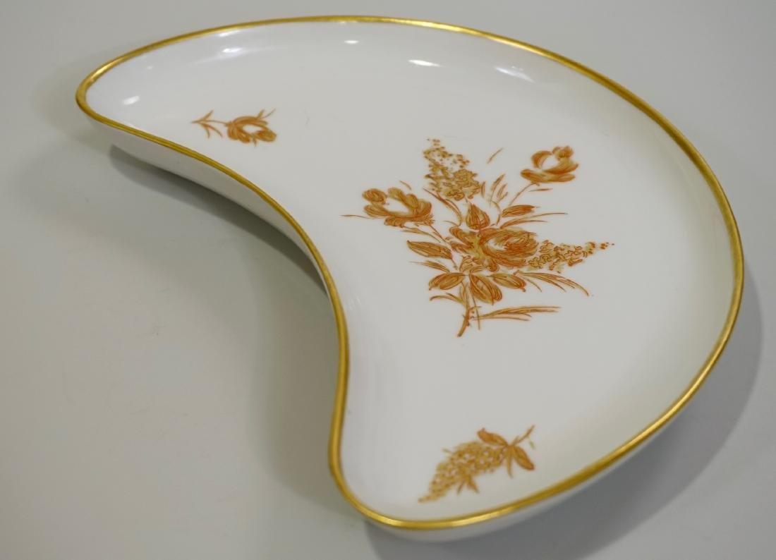 Vintage French Limoges Gold Rose Porcelain Crescent - 2