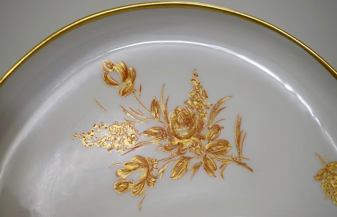 Vintage French Limoges Gold Rose Porcelain Crescent - 3