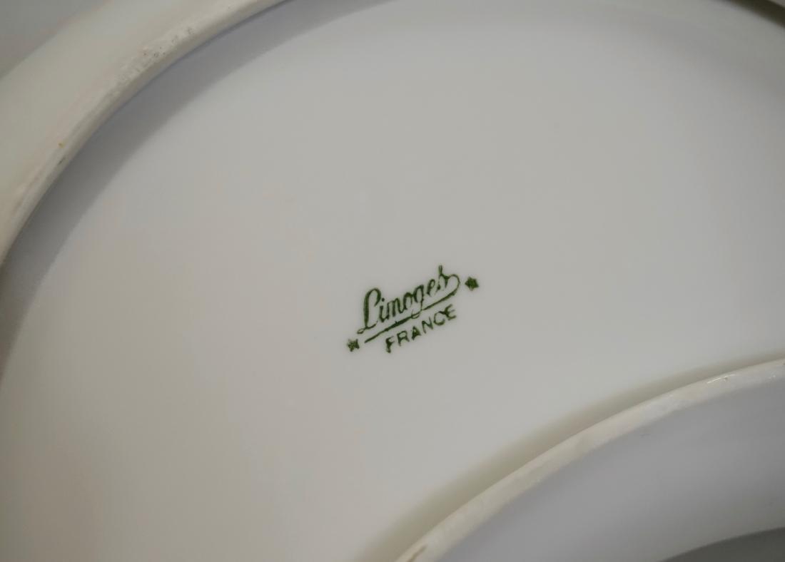 Vintage French Limoges Gold Rose Porcelain Crescent - 5