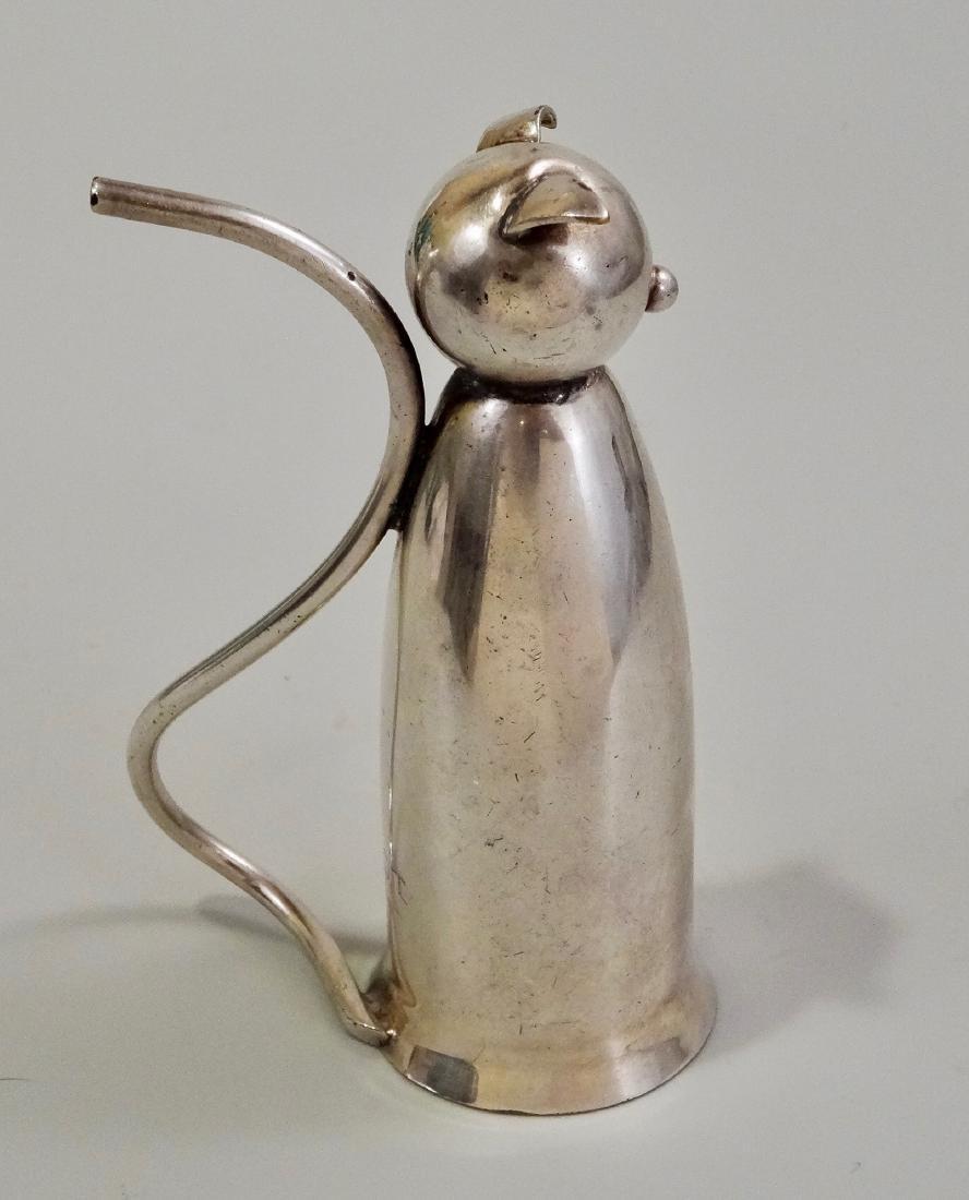 Napier Silver Plate Cat Jigger Mid Century Art Deco - 2