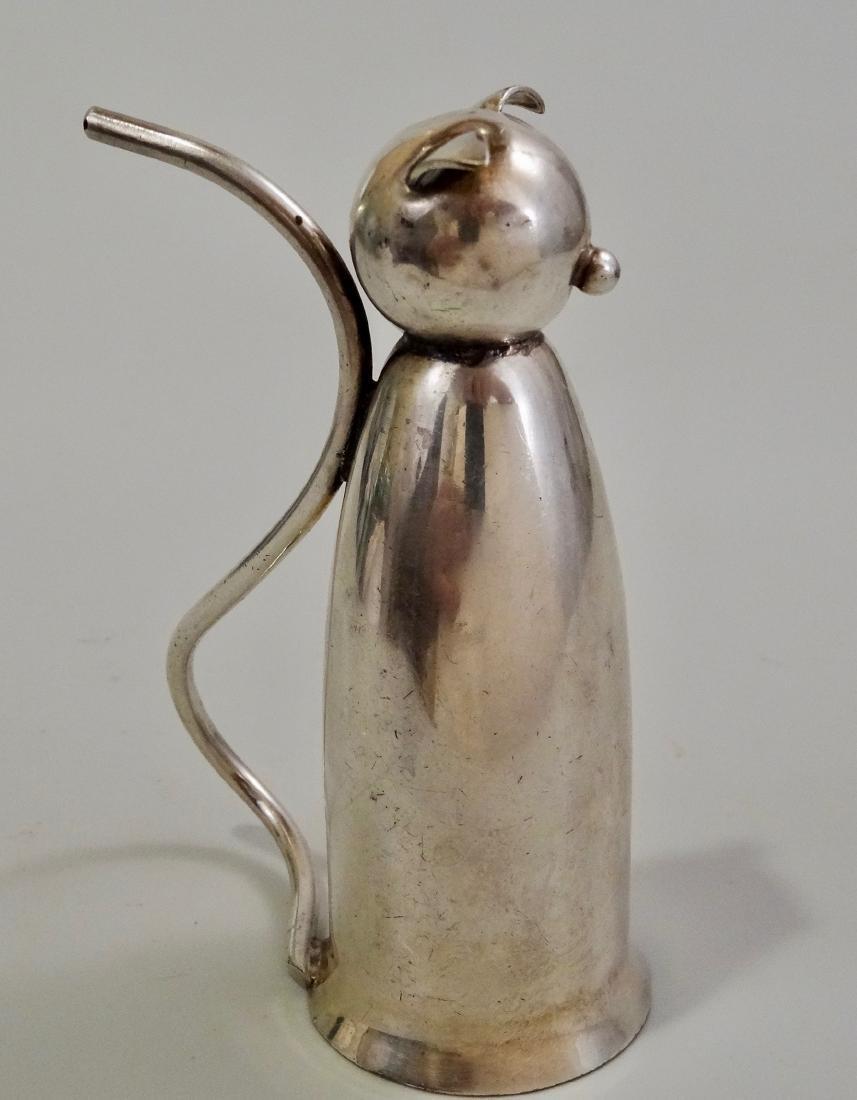 Napier Silver Plate Cat Jigger Mid Century Art Deco - 4