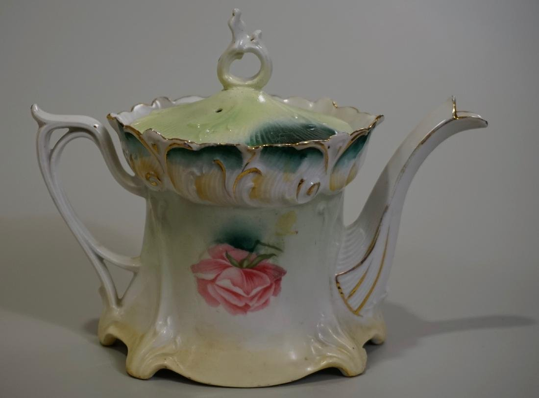 Antique RS Prussia Porcelain Teapot - 2