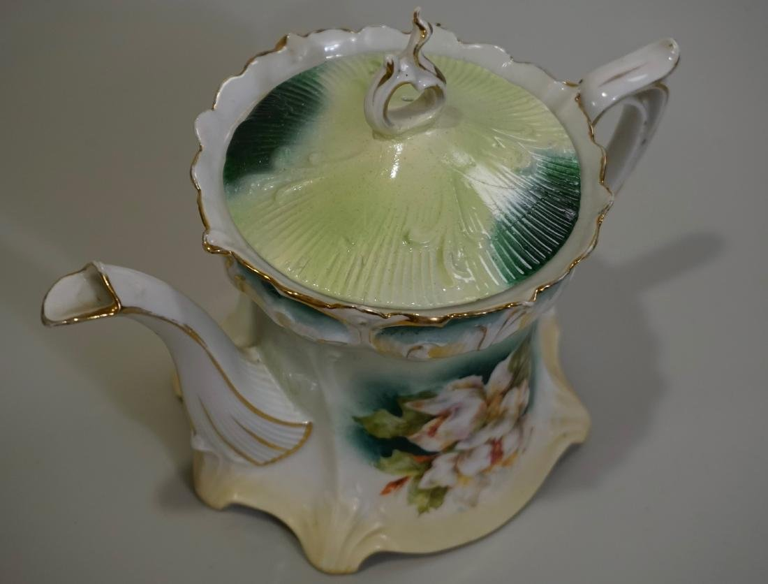 Antique RS Prussia Porcelain Teapot - 3