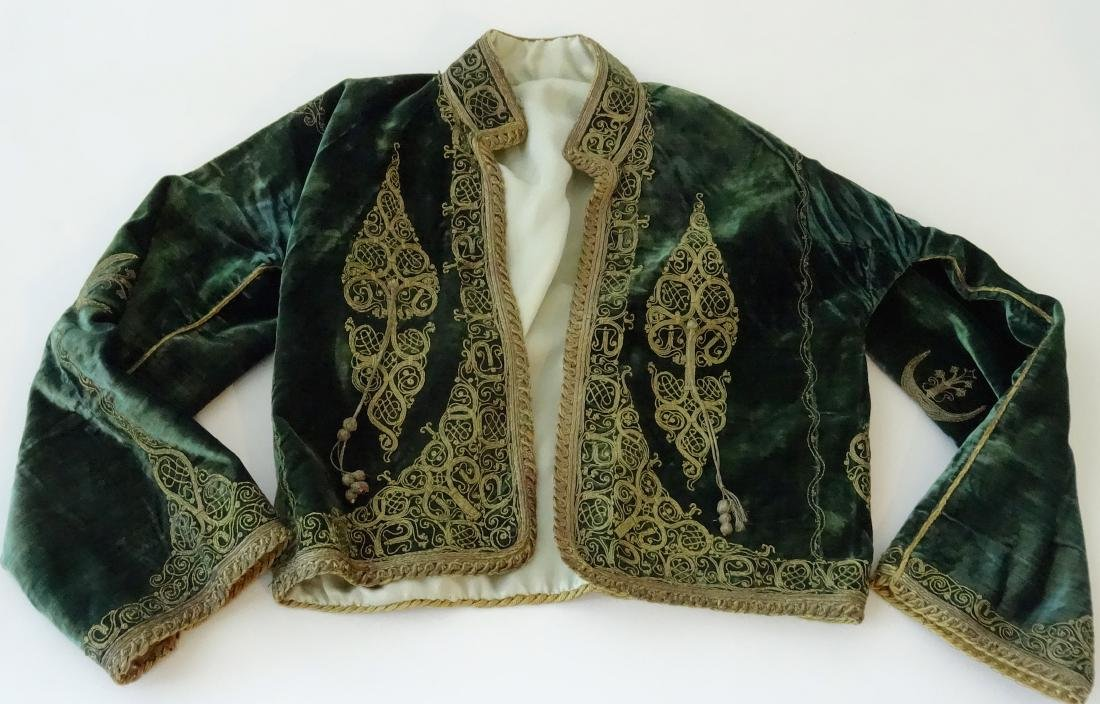 Antique Embroidered Velvet Bolero Jacket Ethnic Museum
