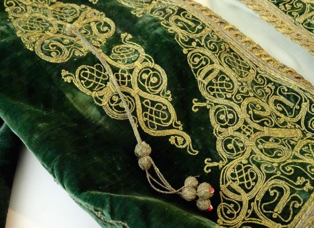 Antique Embroidered Velvet Bolero Jacket Ethnic Museum - 2