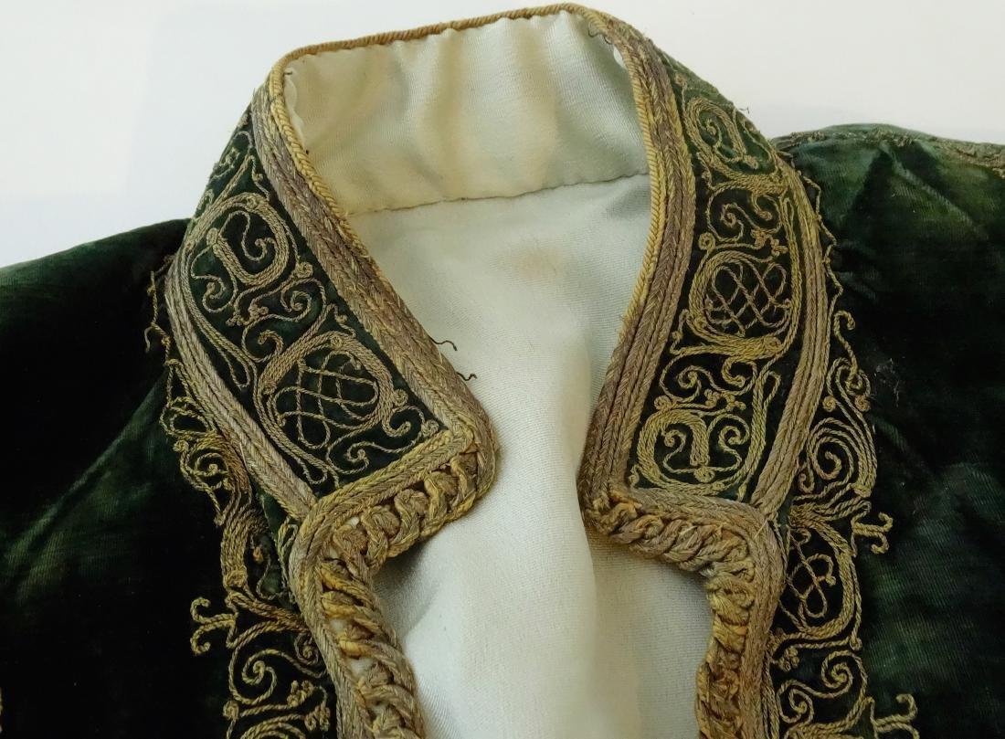 Antique Embroidered Velvet Bolero Jacket Ethnic Museum - 3