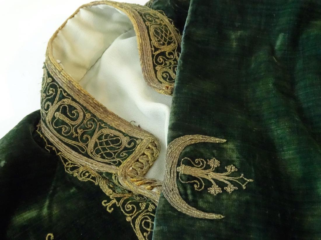 Antique Embroidered Velvet Bolero Jacket Ethnic Museum - 4