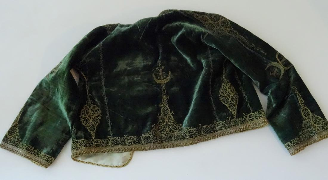 Antique Embroidered Velvet Bolero Jacket Ethnic Museum - 5