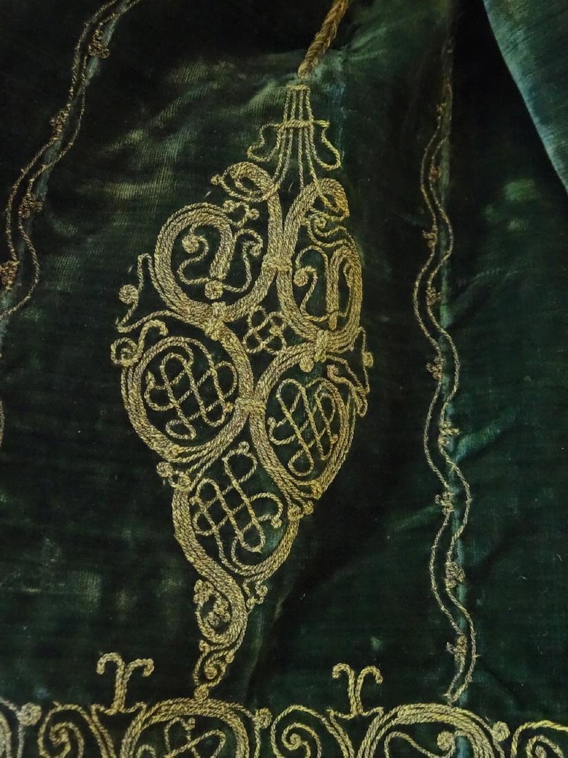 Antique Embroidered Velvet Bolero Jacket Ethnic Museum - 6