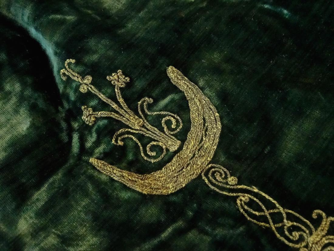 Antique Embroidered Velvet Bolero Jacket Ethnic Museum - 7