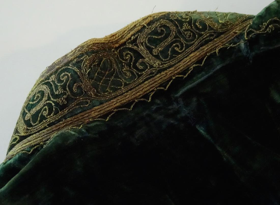 Antique Embroidered Velvet Bolero Jacket Ethnic Museum - 8