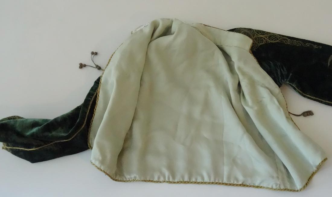 Antique Embroidered Velvet Bolero Jacket Ethnic Museum - 9