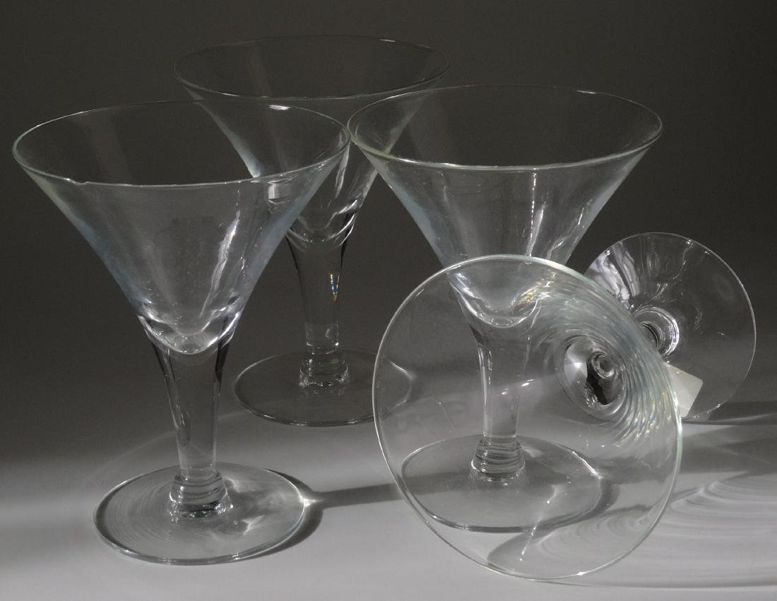 Vintage Original Art Deco Period Clear Glass Martini