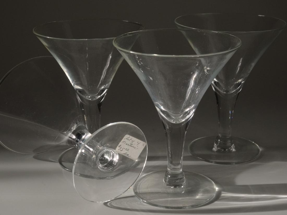 Vintage Original Art Deco Period Clear Glass Martini - 2