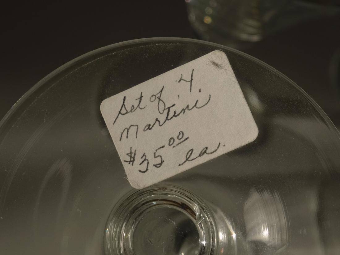 Vintage Original Art Deco Period Clear Glass Martini - 3