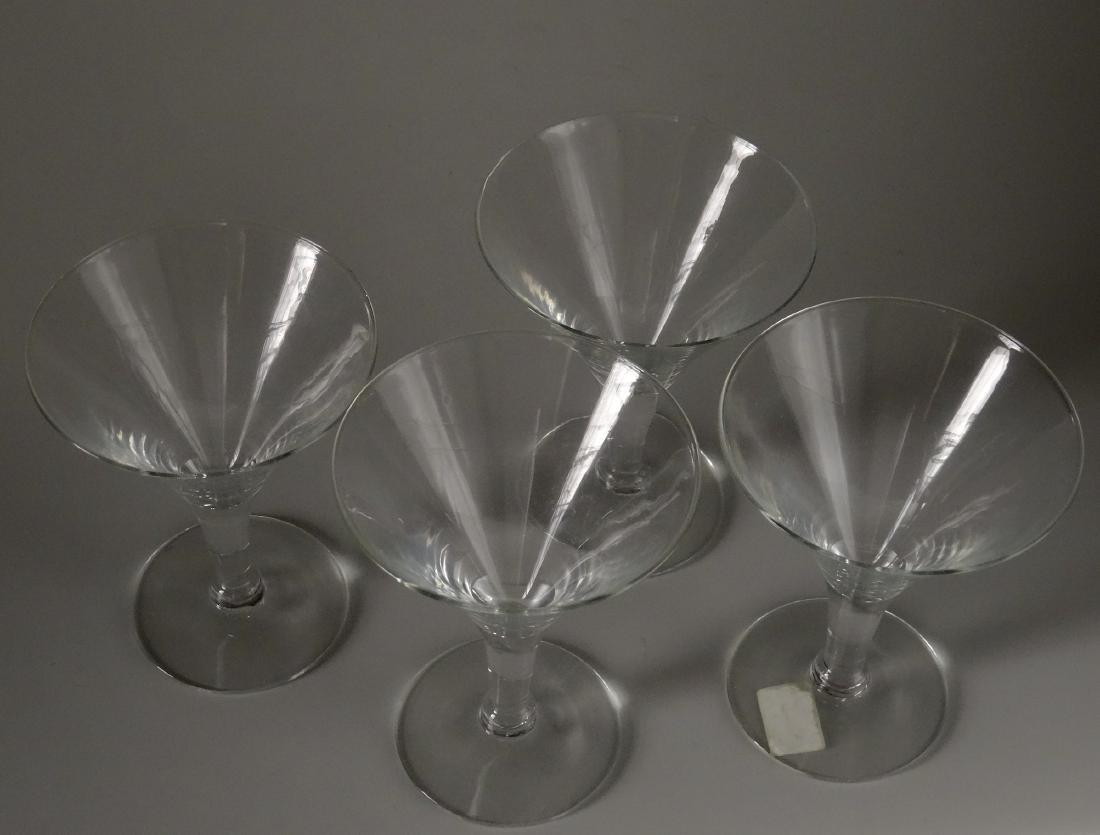 Vintage Original Art Deco Period Clear Glass Martini - 4
