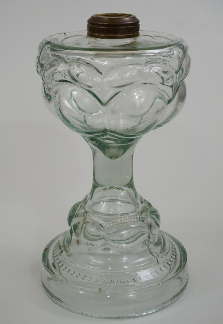 Antique EAPG Pressed Glass Kerosene Oil Lamp Base