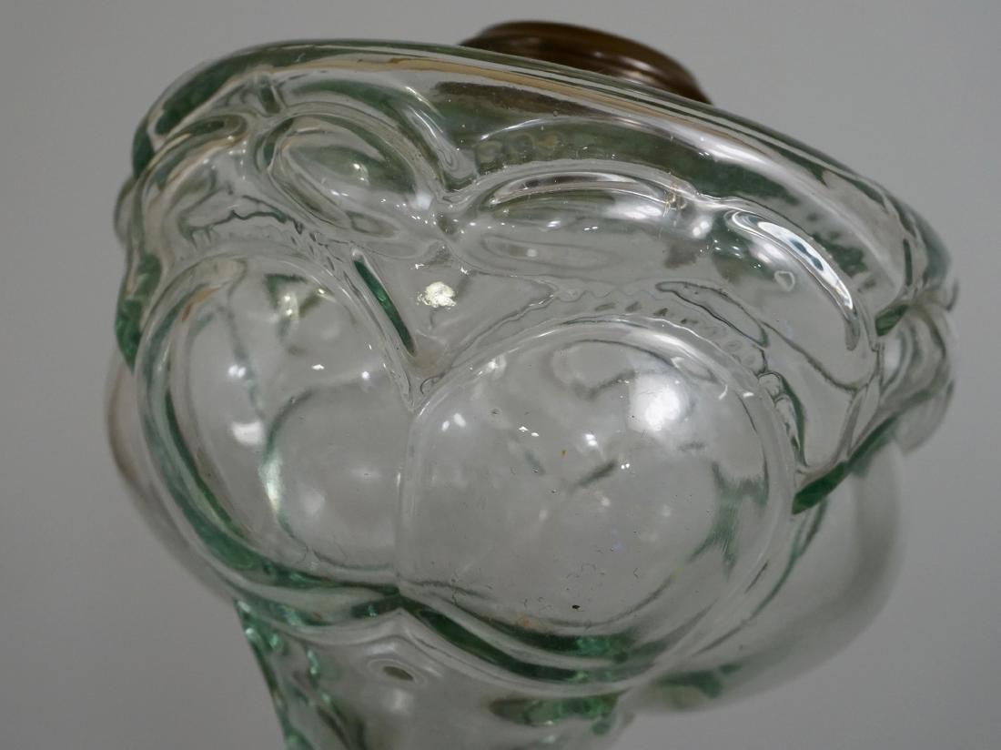 Antique EAPG Pressed Glass Kerosene Oil Lamp Base - 4
