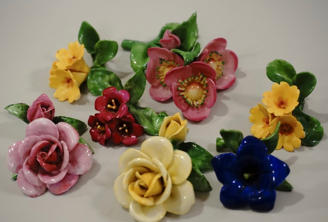 Capodimonte Flowers Hand Molded Porcelain Small Blossom - 4