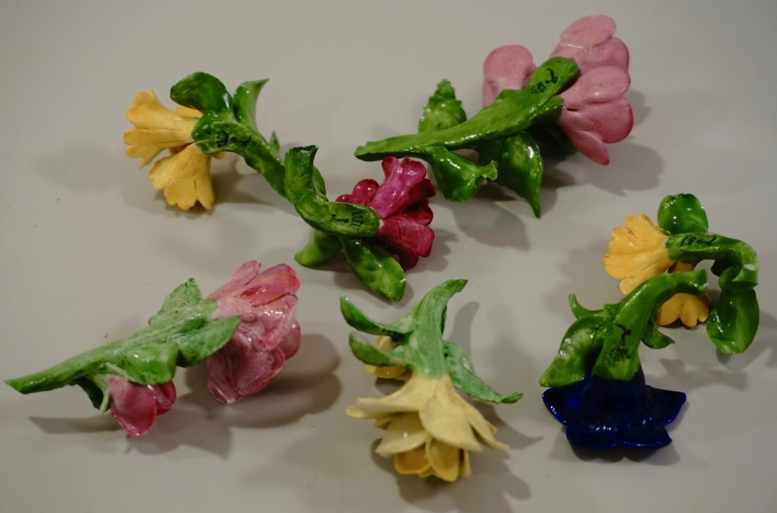 Capodimonte Flowers Hand Molded Porcelain Small Blossom - 7