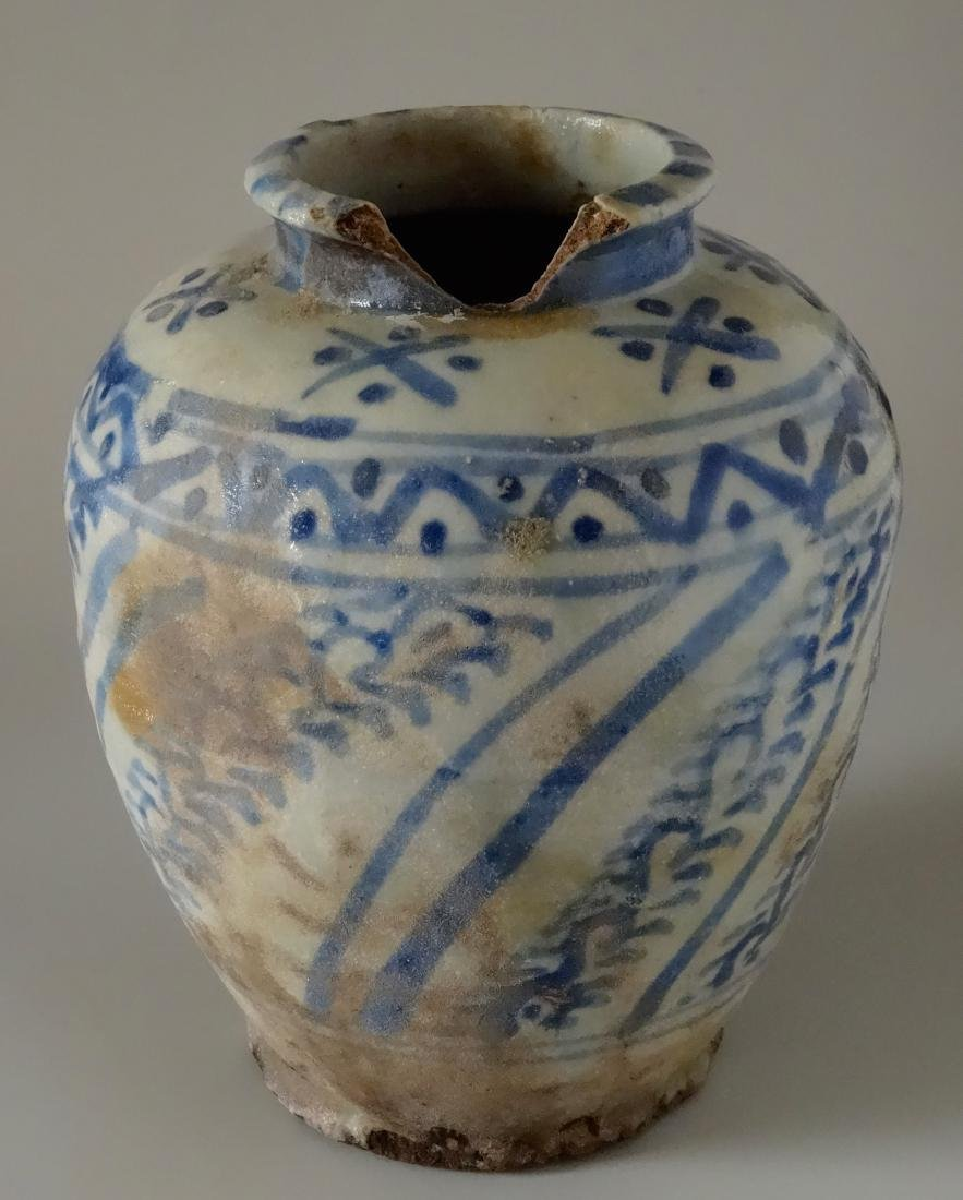 Chinese Antique Ginger Jar Blue and White Ceramic As Is - 2