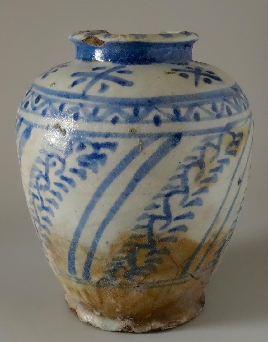 Chinese Antique Ginger Jar Blue and White Ceramic As Is - 5