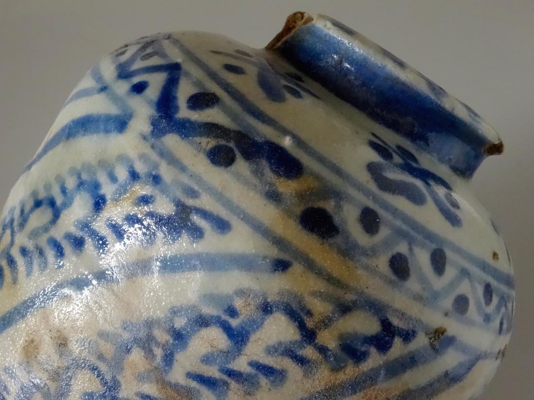 Chinese Antique Ginger Jar Blue and White Ceramic As Is - 8