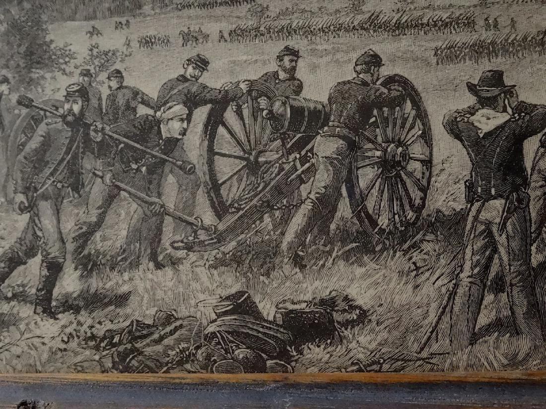 Civil War Cannon Battle Antique Print Engraving Vintage - 3