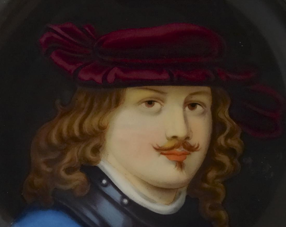 Renaissance Porcelain Portrait Painting Round Embossed - 2