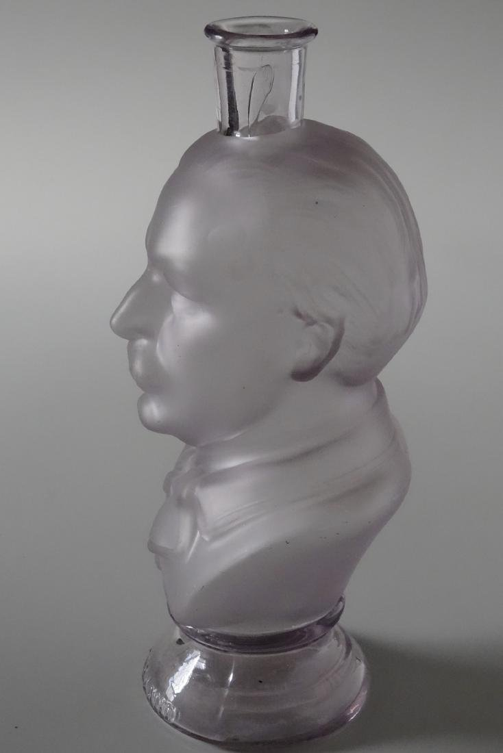 President Grover Cleveland Frosted Glass Figural Bust - 4