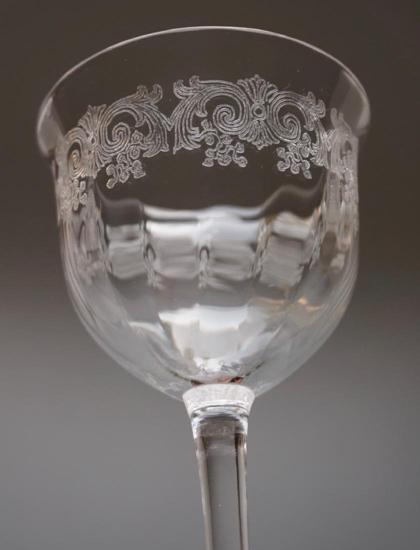 Needle Etched Vintage Clear Glass Sherry Wine Cocktail - 4