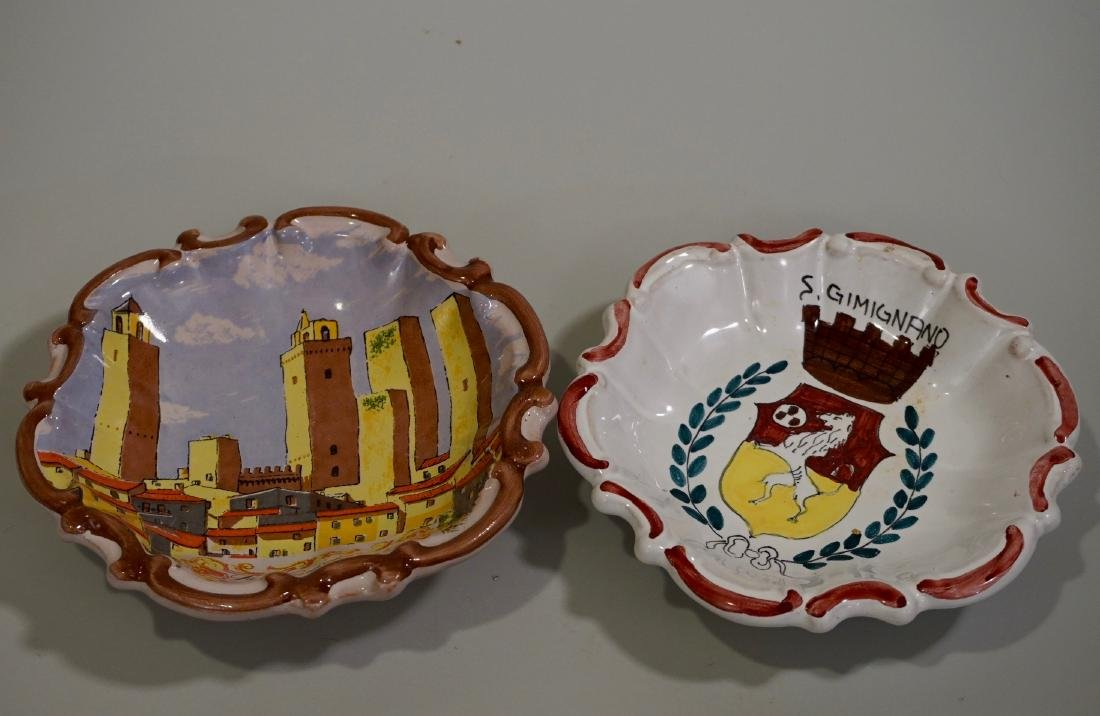 Italian Hand Painted Wall Plaques