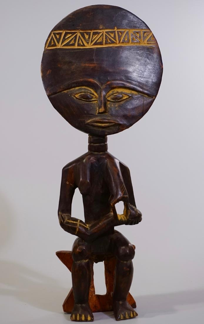 African Madonna Ghana Tribal Carved Wood Akuaba Doll
