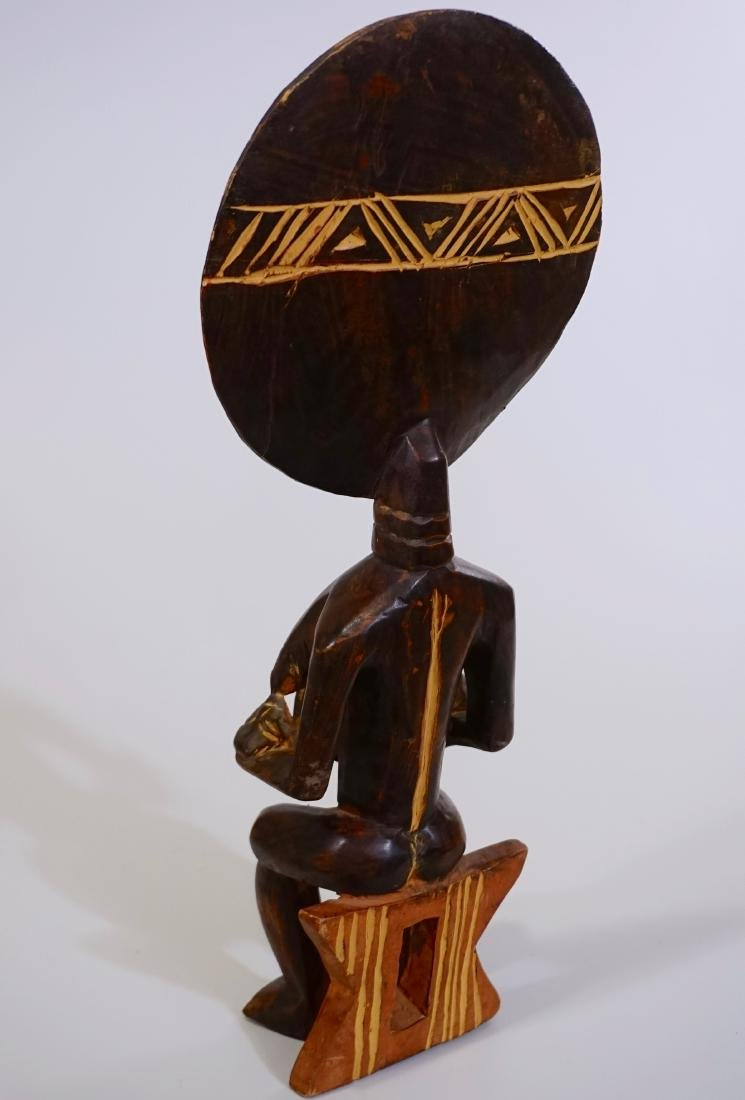 African Madonna Ghana Tribal Carved Wood Akuaba Doll - 5