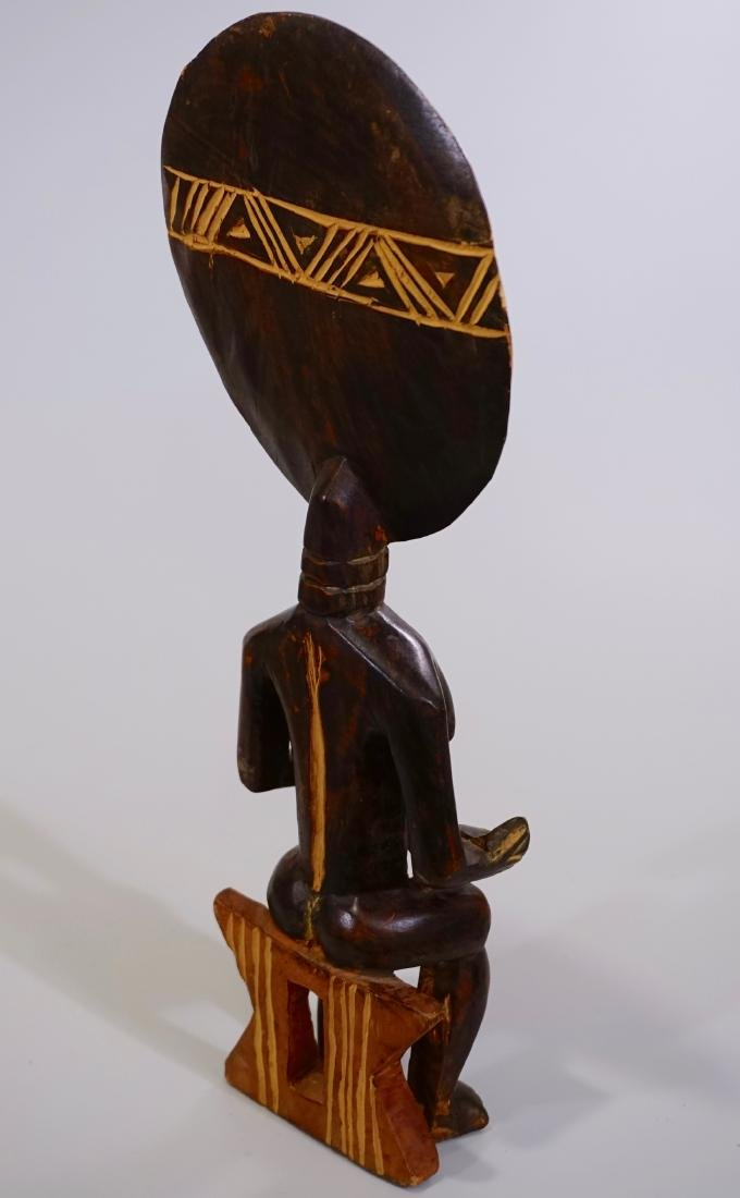African Madonna Ghana Tribal Carved Wood Akuaba Doll - 6